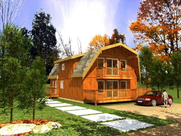 Gambrel roof house plans for Gambrel home designs