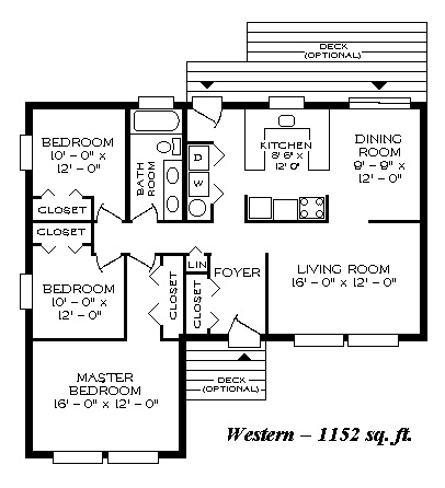Western1152 on 3 bedroom house plans double garage